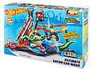 Авто трек Хот Вилс Автомойка, Ultimate Gator Car Wash Playset Hot Wheels, фото 10