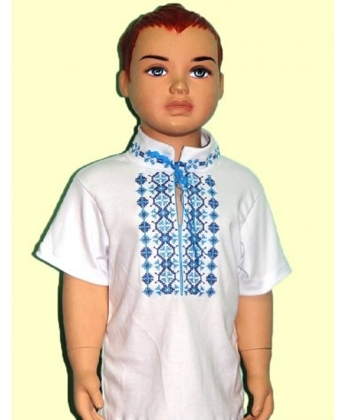 Детская вышиванка  для мальчика  72(115-122)