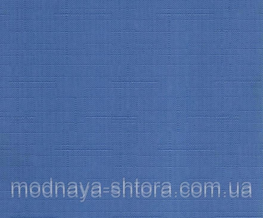 """Тканевые рулонные шторы """"Oasis"""" лен (небесно голубой), РАЗМЕР 65х170 см"""