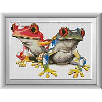 Набор алмазной живописи (квадратные, полная)Красочные лягушки Dream Art.