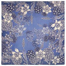 10509-13, павлопосадский платок шерстяной (разреженная шерсть) с швом зиг-заг