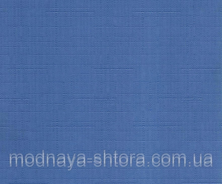 """Тканевые рулонные шторы """"Oasis"""" лен (небесно голубой), РАЗМЕР 120х170 см"""
