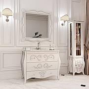 """Комплект мебели в ванную комнату """"Арлет"""" (тумба+мраморная столешница с умывальником + пенал + зеркало)"""