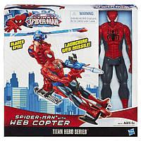 Человек Паук и паутинный вертолет, Титаны - Spider man, web Copter, Titans, Hasbro - 138252