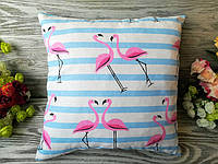 Подушка фламинго-зигзаг , 34 см * 34 см