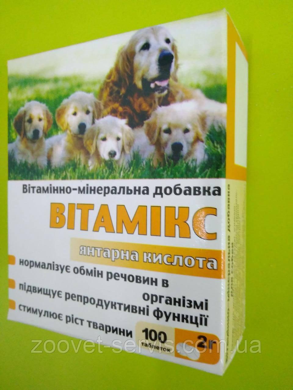 Витамикс для собак Янтарная кислота