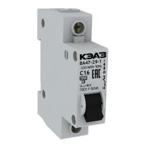 Автоматический выключатель KEAZ ВА 47-29 16А 1Р