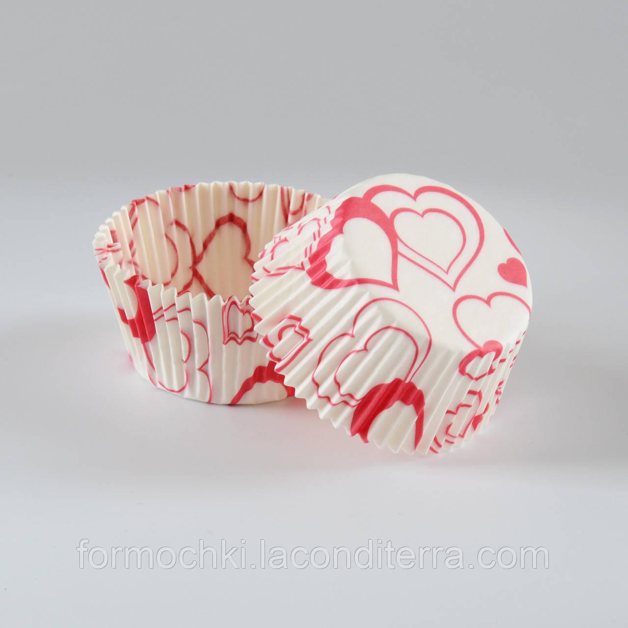 """Формочки для кексов и конфет """"Валентинка-3"""" 5 (Ø40, бортик – 21 мм), 2000 шт."""