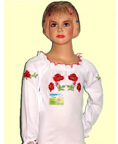 Вышиванка для девочки с длинным рукавом 60(90-95)