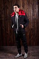 Мужской весенний спортивный комплект - костюм Nike (куртка+штаны, БАРСЕТКА В ПОДАРОК), (Реплика ААА), фото 1