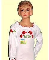 Вышиванка для девочки с длинным рукавом 72(115-122)