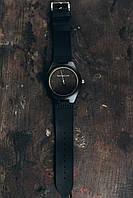 Мужские наручные стильные деревяные  часы Цвет: чёрный