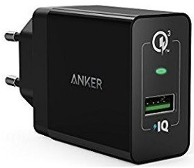 Зарядное устройство PowerPort+1 QC3.0& PIQ+MicroUSB V3(Black)