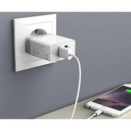 Зарядное устройство PowerPort2 24W/4.8A+Micro USB cable V3(White), фото 2
