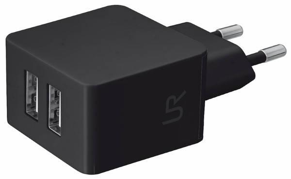 Зарядное устройство URBAN Dual Smart Wall Charger (BLACK), фото 2