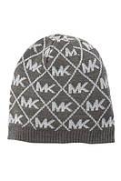 Женская стильная серая шапка  c люрексом популярного бренда Michael Kors