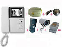Видеодомофон для частного дома. Монтаж, гарантийное и послегарантийное обслуживание. Разные модели.