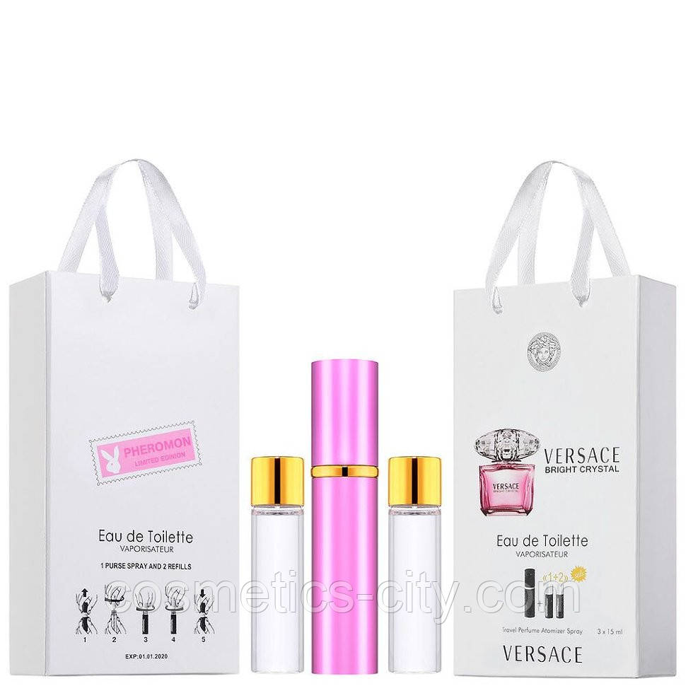 Мини-парфюм женский Versace Bright Crystal, 3х15 мл