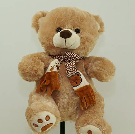 На День Народження 8 березня гарний подарунок дівчині м'яка іграшка Ведмедик 41 см плюшевий, фото 2