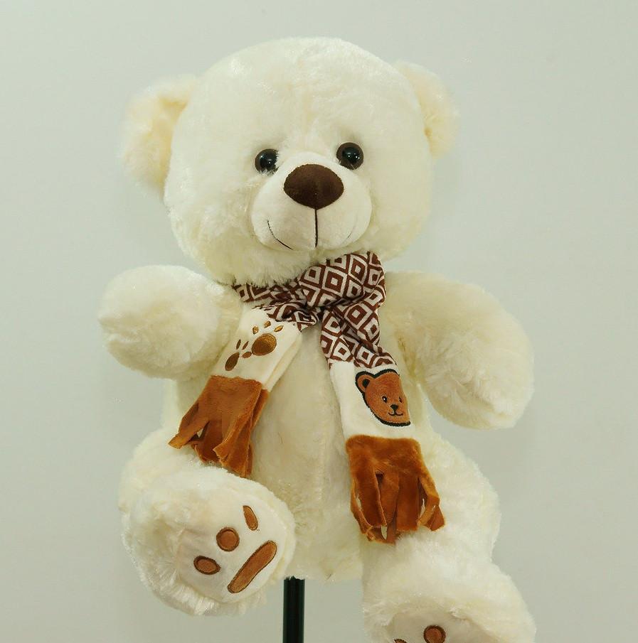 На День Народження 8 березня гарний подарунок дівчині м'яка іграшка Ведмедик 41 см плюшевий