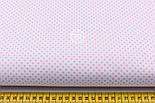 """Ткань хлопковая """"Пунктирный горошек"""" бледно-розовый на белом (№1920), фото 2"""
