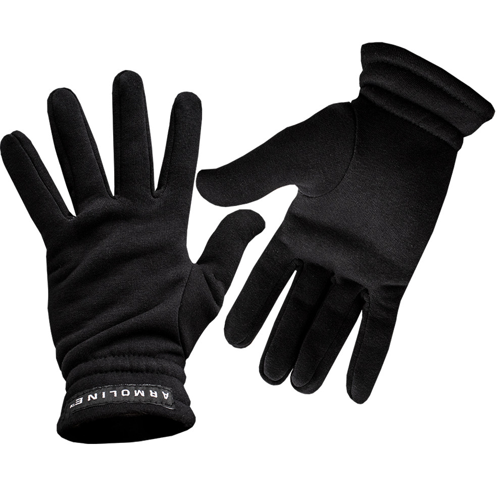 "Перчатки (рукавицы) зимние ""Трикотаж"" Black"