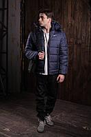Мужской весенний спортивный комплект - костюм Nike (куртка+штаны, БАРСЕТКА В ПОДАРОК)  (Реплика ААА), фото 1