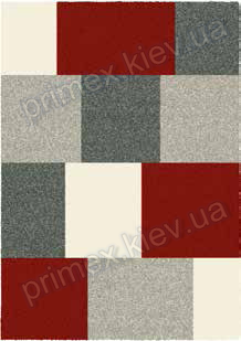 Ковер для дома Opal Cosy structure кубики цвет серый красный бежевый