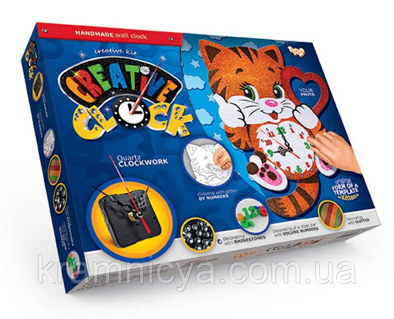 """Настенные часы детские """"Котёнок"""", """"Creative Clock"""", СС-01-01"""