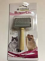 Пуходерка для вычесывания шерсти 6x4,5 см Croci для собак и кошек маленькая