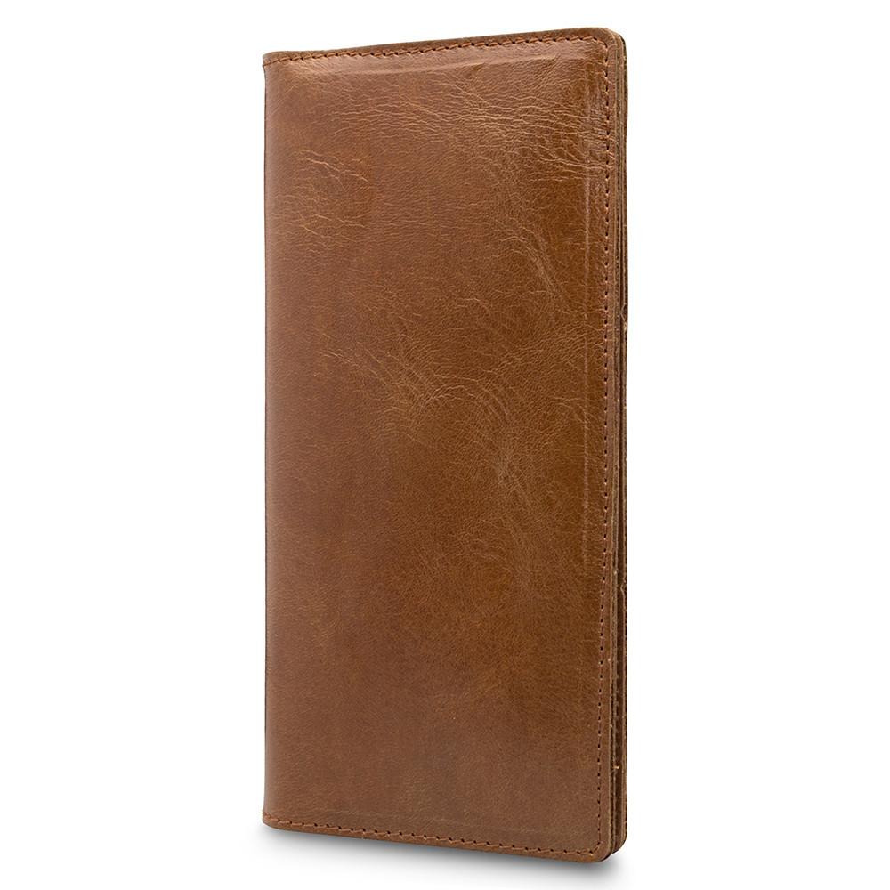 """Бумажник кожаный универсальный для купюр и карт """"Crystal"""". Цвет янтарный"""