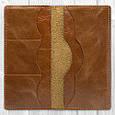 """Бумажник кожаный универсальный для купюр и карт """"Crystal"""". Цвет янтарный, фото 4"""