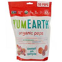 YumEarth, Органические леденцы, вкус в ассортименте, 50 леденцов, 12,3 унц. (349 г)