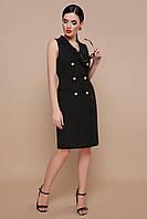 0068553c6ef Платье в офис и на работу. Стильное черное платье. Интересное платье-жилет.