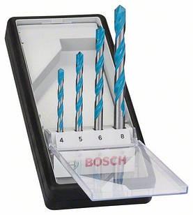 4 сверла Bosch CYL-9 Multi Construction, 4,5,6,8 мм (2607010521)