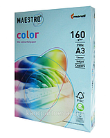 Бумага А3 Maestro Color MB30 голубой