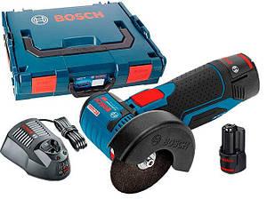 Аккумуляторная болгарка Bosch GWS 10,8-76 V-EC Professional + з/у AL 1130 CV + 2 акб GBA 12V 2 Ah (06019F2002)