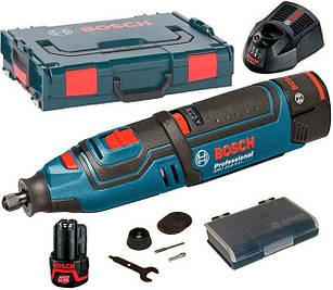 Аккумуляторная бормашина Bosch GRO 12V-35 + зарядное устройство + 2 аккумулятора  + кейс L-boxx (06019C5001)