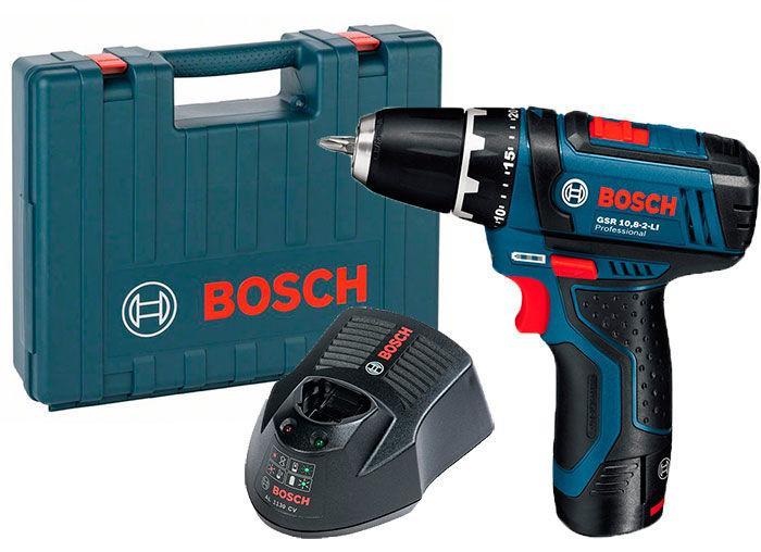 Аккумуляторная дрель-шуруповерт Bosch GSR 12V-15 + з/у GAL 1230 CV + 1 x акб GBA 12V 2 Ah + чемодан (0601868121)
