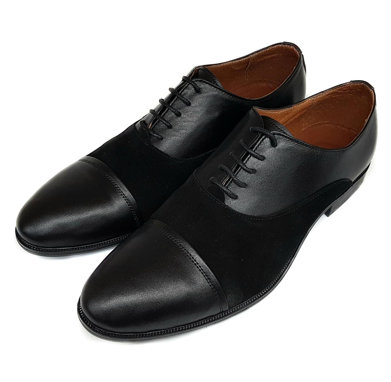 Мужские кожаные туфли Flamanti черные