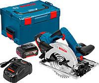 Аккумуляторная пила Bosch GKS 18V-57 G + з/у AL 1880 CV + 2 x акб GBA 18V 5 Ah + чемодан L-boxx (06016A2100)