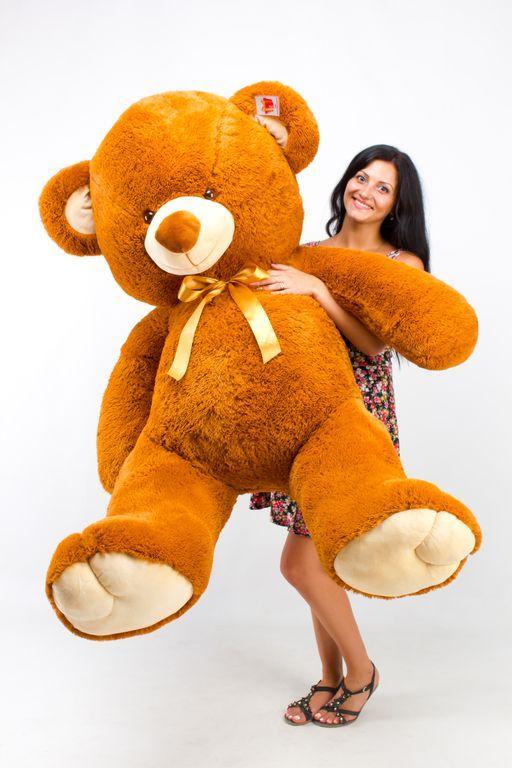 Большой плюшевый медведь Томми коричневый  (190 см)