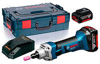 Аккумуляторная шлифмашина прямая Bosch GGS 18 V-Li + з/у AL 1880 CV + 2 x акб GBA 18V 5 Ah + чемодан L-boxx (06019B5304)