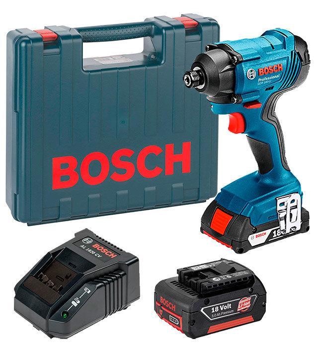 Аккумуляторный гайковерт Bosch GDR 180-LI + з/у AL 1820 CV + 2 x акб GBA 18V 3.0 Ah (06019G5120)