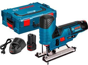 Аккумуляторный лобзик Bosch GST 12V-70 + з/у GAL 1230 CV + 2 x акб GBA 12V 2 Ah + чемодан L-boxx (06015A1000)