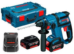 Аккумуляторный перфоратор Bosch GBH 18 V-EC + з/у GAL 1880 CV + 2 x акб GBA 18V 5 Ah + L-boxx (0611904002)