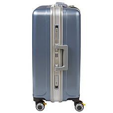 Чемодан BagHouse большой 4 колеса цвет серебристо-голубой 43х61х30 кс325бгол, фото 2