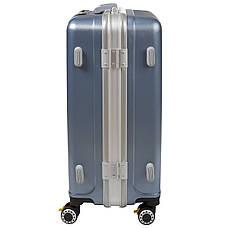 Чемодан BagHouse большой 4 колеса цвет серебристо-голубой 43х61х30 кс325бгол, фото 3