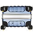 Чемодан BagHouse большой 4 колеса цвет серебристо-голубой 43х61х30 кс325бгол, фото 4