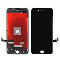 Дисплей (экран) для Apple iPhone 7 с сенсором (тачскрином) оригинал (Orig recondition) черный (black)